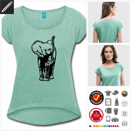 grünes Elefanten T-Shirt zu gestalten
