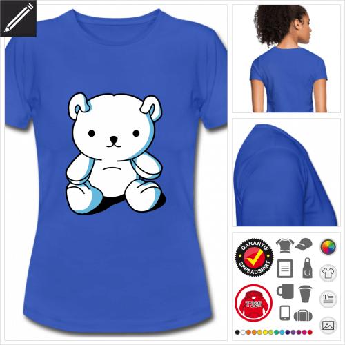 Damen Teddybär T-Shirt zu gestalten
