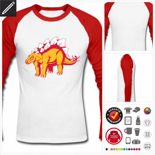 Stegosaurus T-Shirt selbst gestalten. Druck ab 1 Stuck