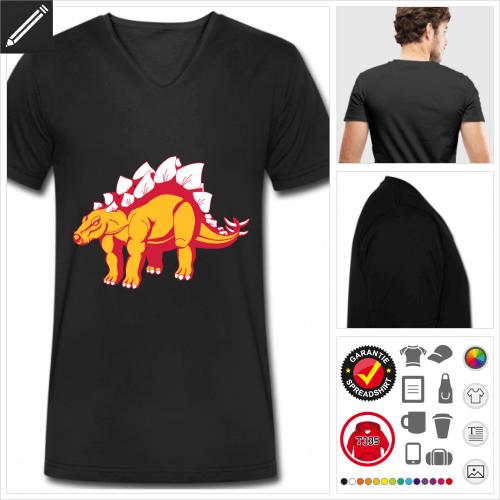 Dinosaurier T-Shirt für Männer selbst gestalten. Online Druckerei