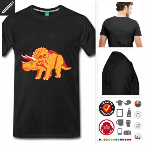 basic Triceratops T-Shirt selbst gestalten. Online Druckerei