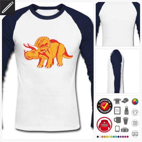 Dinosaurier Langarmshirt online gestalten