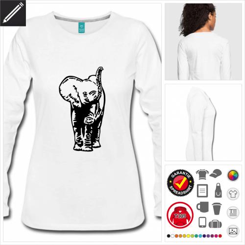 Elefanten T-Shirt online Druckerei, höhe Qualität