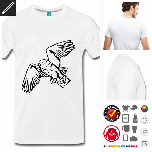 weisses Hedwig T-Shirt online Druckerei, höhe Qualität