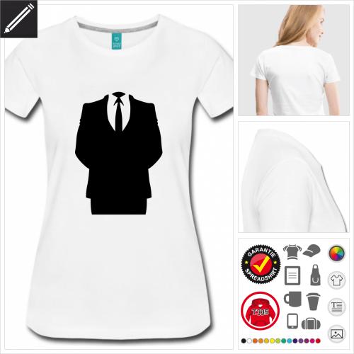 Anonymous Kurzarmshirt gestalten, Druck ab 1 Stuck