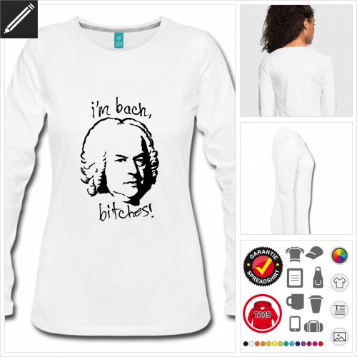 Bach T-Shirt selbst gestalten. Online Druckerei