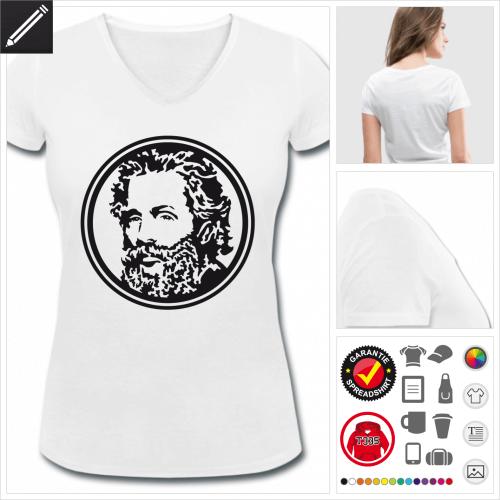Frauen basic Melville T-Shirt gestalten, Druck ab 1 Stuck