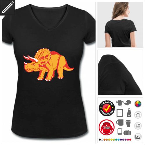 basic Dinosaurier T-Shirt online Druckerei, höhe Qualität