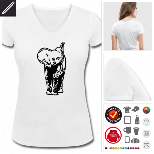 Frauen Wildtiere T-Shirt online gestalten