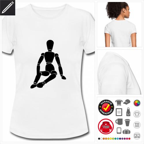 Frauen Gliederpuppe T-Shirt online gestalten