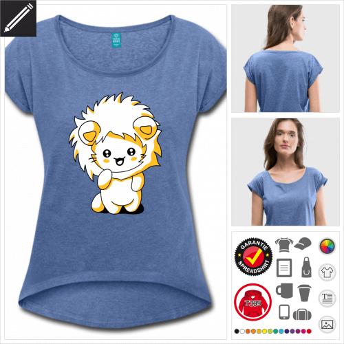 Kawaii Katze T-Shirt selbst gestalten. Online Druckerei