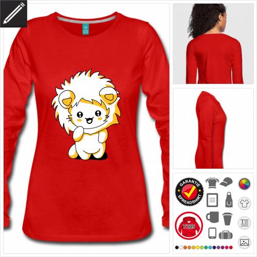 Frauen Katze kawaii T-Shirt online Druckerei, höhe Qualität