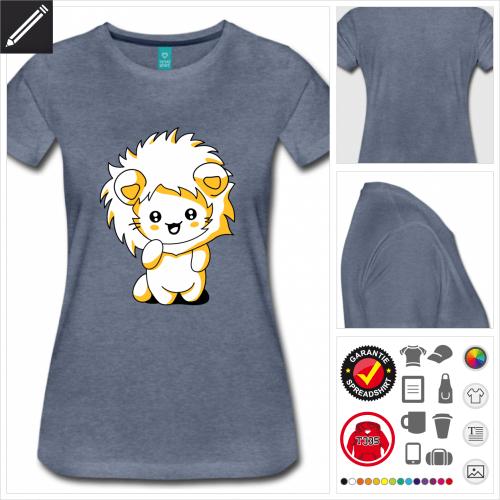 Damen Katzen T-Shirt selbst gestalten