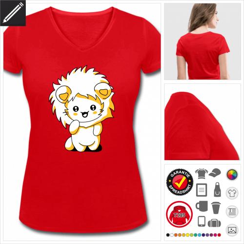 Frauen Katzen kawaii T-Shirt zu gestalten
