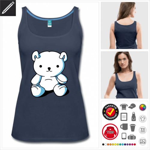Teddybär Tank Top personalisieren
