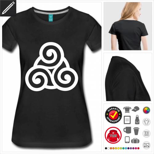 Frauen Keltisches Symbol T-Shirt online zu gestalten