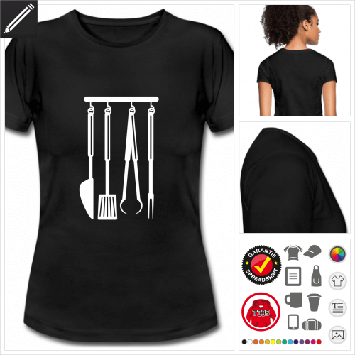 basic bbq T-Shirt selbst gestalten. Druck ab 1 Stuck