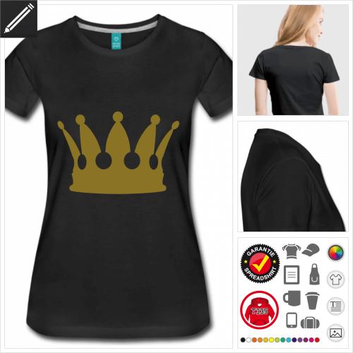 schwarzes Krone T-Shirt selbst gestalten