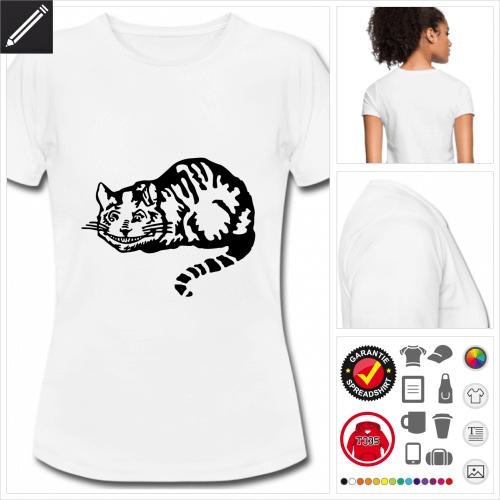 weisses Katzen T-Shirt online gestalten