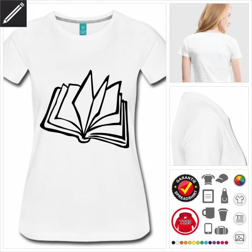 Frauen Literatur T-Shirt selbst gestalten. Online Druckerei