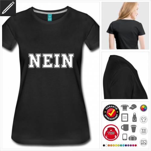 Frauen Nein T-Shirt online gestalten