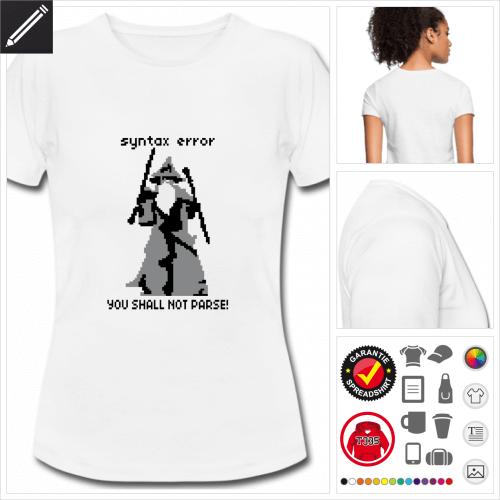 basic You shall not parse T-Shirt online zu gestalten