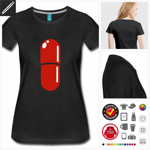schwarzes Nerd T-Shirt online zu gestalten