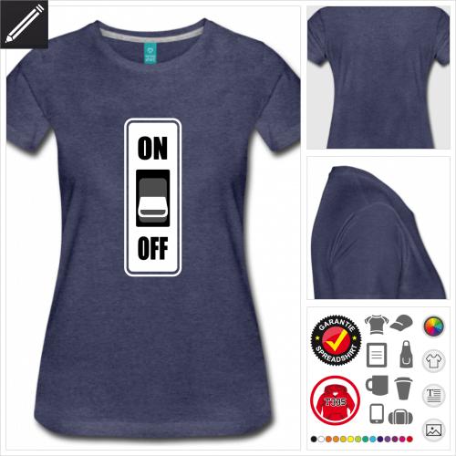basic ON OFF T-Shirt online zu gestalten