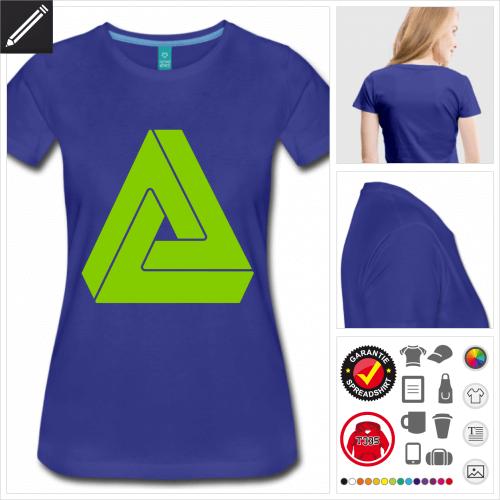 Frauen Penrose T-Shirt online zu gestalten
