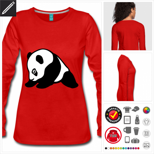Frauen Panda T-Shirt personalisieren