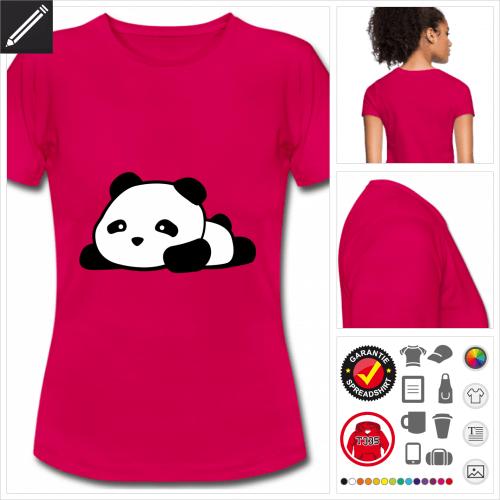 Frauen Panda T-Shirt selbst gestalten