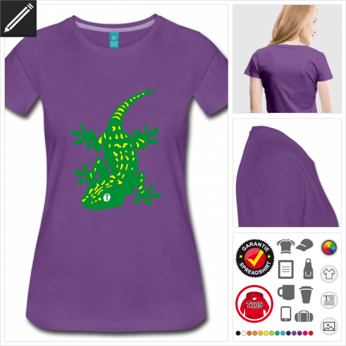 Reptilien T-Shirt online zu gestalten