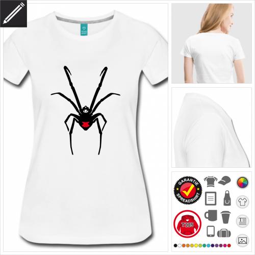 basic Webspinnen T-Shirt online gestalten