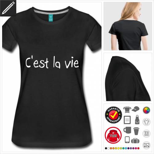 Französische Sprüche T-Shirt selbst gestalten