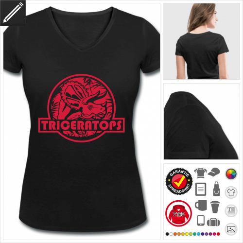 Triceratops Jurassic T-Shirt gestalten, Druck ab 1 Stuck