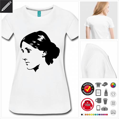 Frauen Virginia Woolf T-Shirt zu gestalten