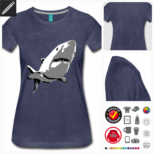 basic Menschenhai T-Shirt selbst gestalten