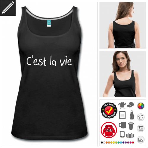 Frauen Französische Sprüche T-Shirt online Druckerei, höhe Qualität