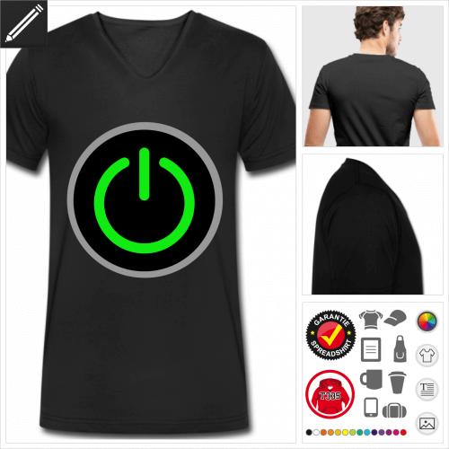 Start T-Shirt online Druckerei, höhe Qualität