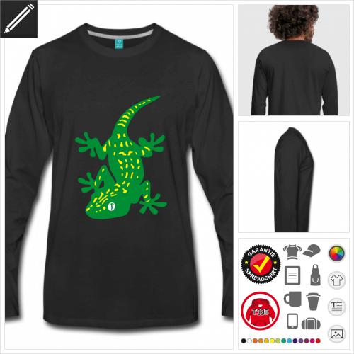 Männer Reptilien T-Shirt online Druckerei, höhe Qualität
