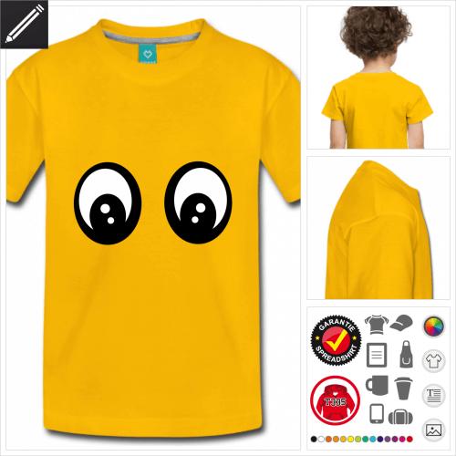 Lustiges Smiley Kurzarmshirt selbst gestalten. Online Druckerei
