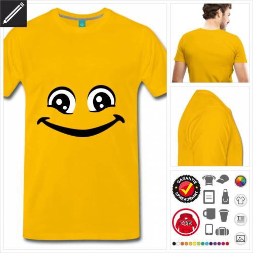 basic Smiley T-Shirt zu gestalten