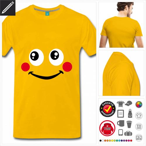 Smiley T-Shirt online zu gestalten