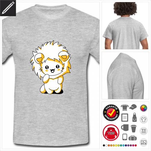Katze Kurzarmshirt online zu gestalten