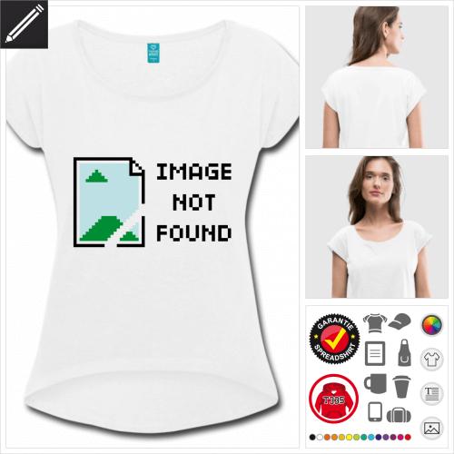 Frauen Entwickler T-Shirt selbst gestalten. Druck ab 1 Stuck