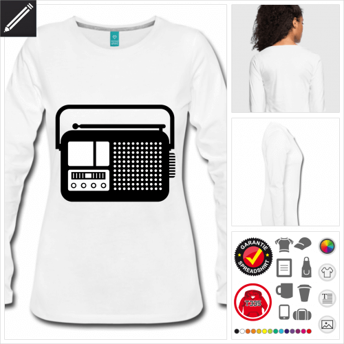 Radio T-Shirt selbst gestalten. Druck ab 1 Stuck