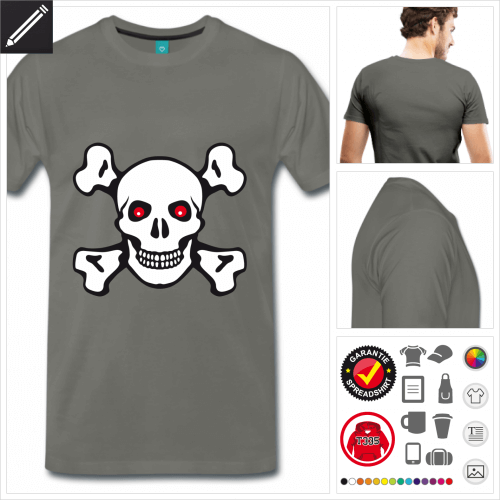 basic Totenkopf T-Shirt zu gestalten
