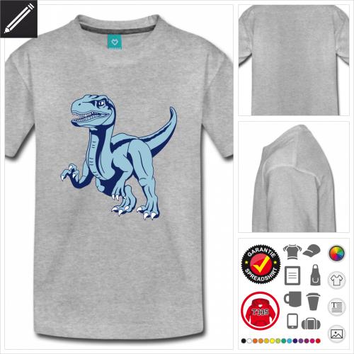 Teenager Velociraptor T-Shirt online Druckerei, höhe Qualität