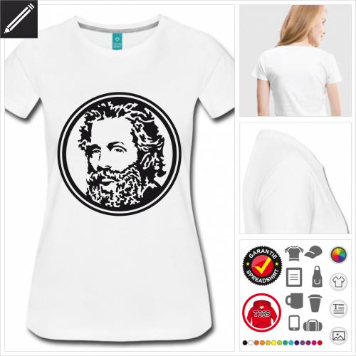 Frauen Literatur T-Shirt selbst gestalten