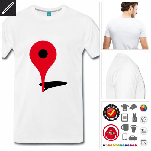weisses Geek T-Shirt selbst gestalten. Online Druckerei